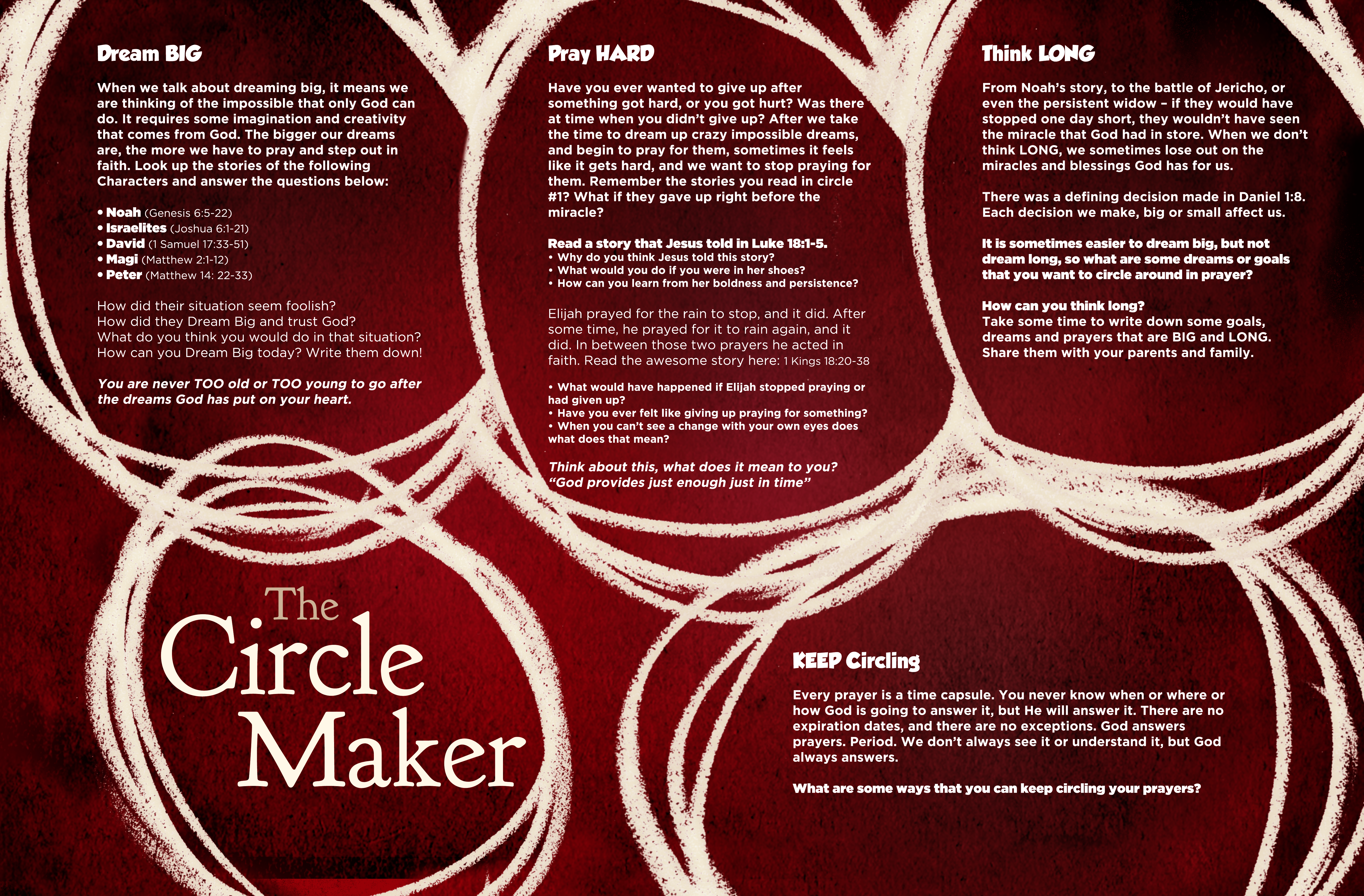 free resources the circle maker